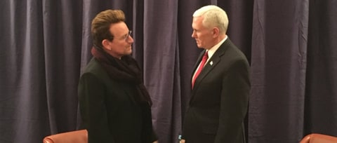 Bono Meets Mike Pence, Praises Previous AIDS Relief Efforts