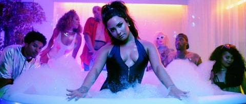 Watch Demi Lovato's Pool Party DJed By Paris Hilton in 'Sorry Not Sorry'