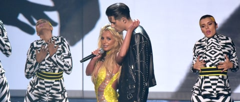 Watch Britney Spears, G-Eazy's Fiery 'Make Me' VMA Performance