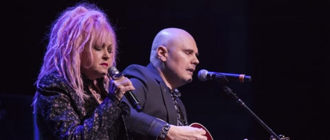 Watch Cyndi Lauper, Billy Corgan Cover Crystals at Benefit Gig