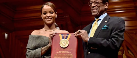 Watch Rihanna Accept Harvard's Humanitarian Of the Year Award