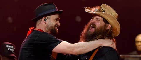 See Justin Timberlake, Chris Stapleton Reunite for 'Tennessee Whiskey'