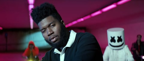 Watch Marshmello, Khalid Ride Glowing Bicycles in 'Silence' Video