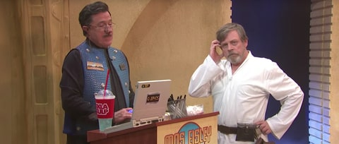 See Stephen Colbert, Mark Hamill Create New 'Star Wars' Cantina Scene