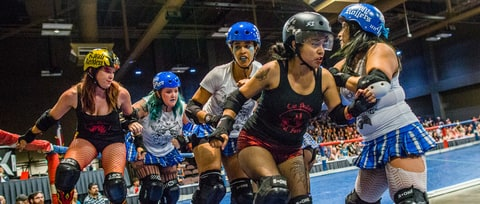 Meet the Kick-Ass Women of the Texas Banked Track Roller Derby