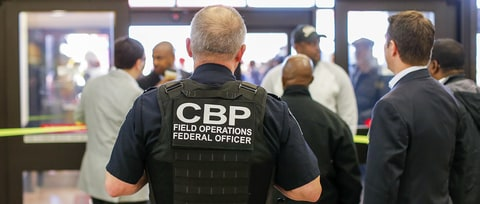Border Patrol Agents Stop Domestic Travelers at New York Airport