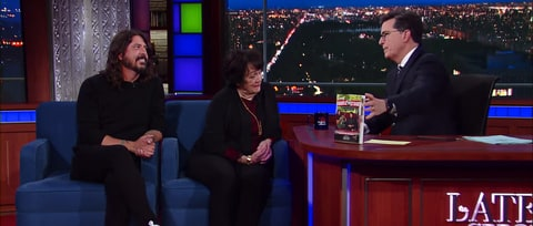 Watch Dave Grohl Talk Bad Grades With Mom on 'Colbert'
