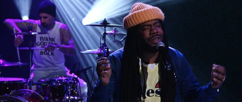 Watch D.R.A.M., Travis Barker Bring Buoyant 'Broccoli' to 'Conan'