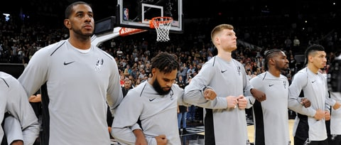 San Antonio Spurs Lock Arms in Unity After National Anthem