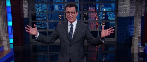 Watch Stephen Colbert Fret About Trump's Nuclear Plan
