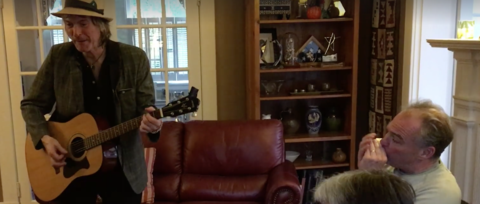 See Replacements Fan Tim Kaine Jam With Tommy Stinson