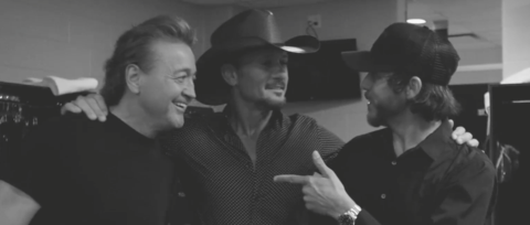 See Tim McGraw's Backstage Jam of 'Mama Tried' with Chris Janson