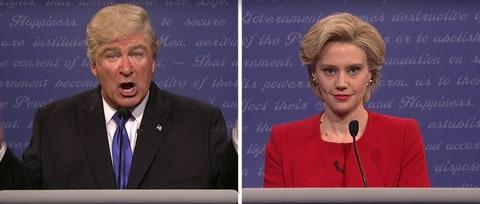 Watch Alec Baldwin's Perfect Donald Trump Impression in 'SNL' Debate Sketch