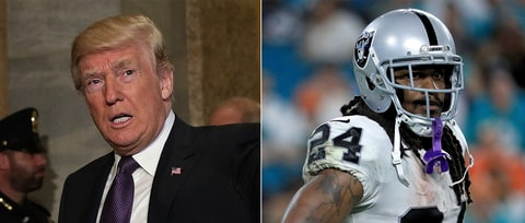 Donald Trump Calls on NFL to Suspend Raiders' Marshawn Lynch
