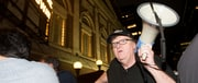 Michael Moore, Mark Ruffalo Take Broadway Crowd to Protest Donald Trump