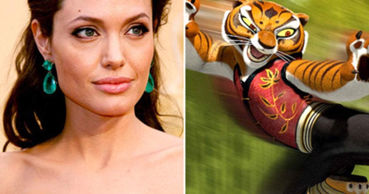 Angelina jolie kung fu panda stars as cartoon characters us