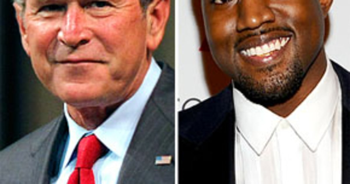 kanye west and george bush In his book 'decision points', mr bush wrote that it was one of the lowest points in his life when the rapper told a fundraiser to benefit victims of the 2005 hurricane that 'george bush doesn't care about black people.