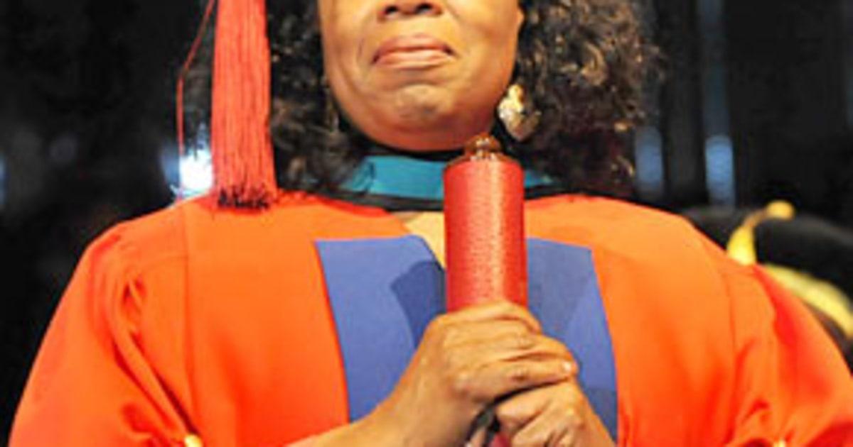 oprah winfrey receives honorary doctorate us weekly