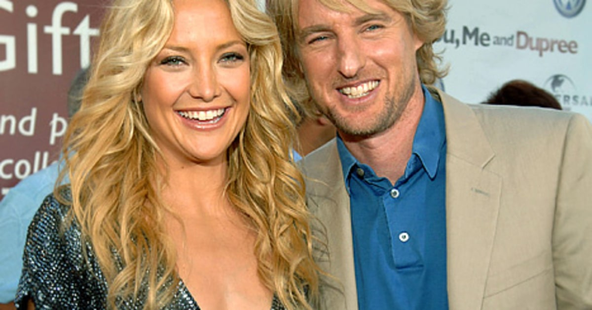 kate hudson and owen wilson bond over babies at oscars