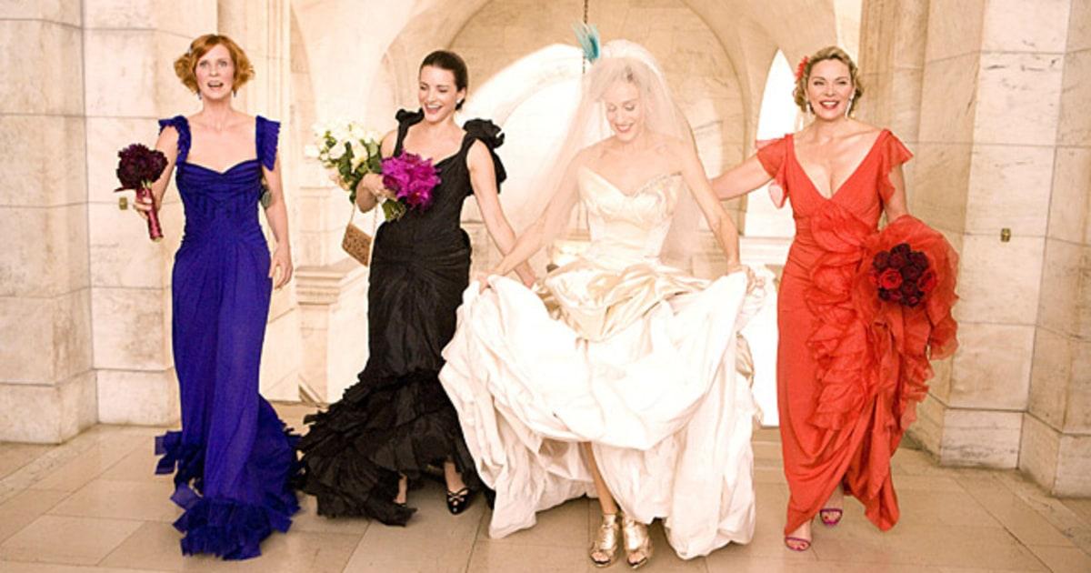 Sarah jessica parker celebrity wedding dresses tv for Sarah jessica parker wedding dress