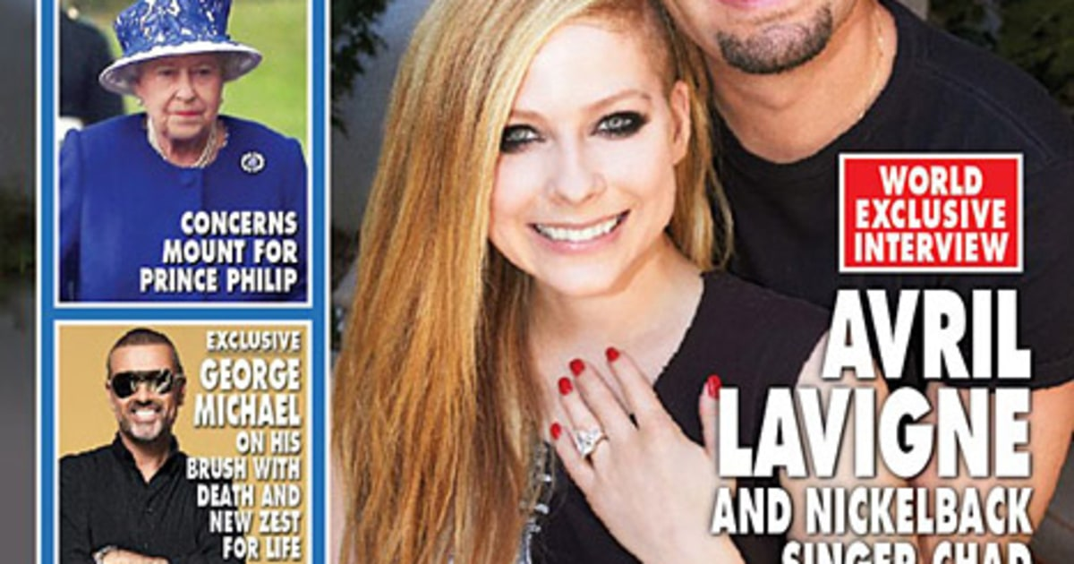 avril lavigne debuts chad kroeger engagement ring on hello