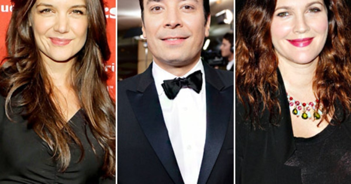 Katie Holmes, Drew Barrymore Hang With Jimmy Fallon at ...