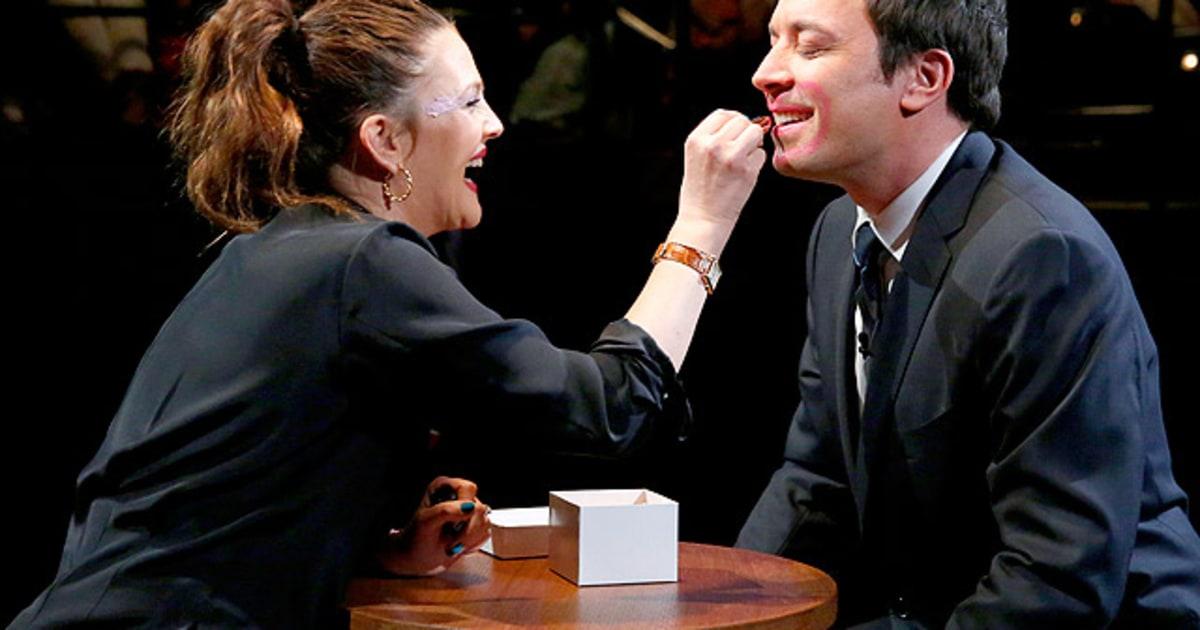 Drew Barrymore, Jimmy Fallon: Getting Lippy   Hot Pics ...