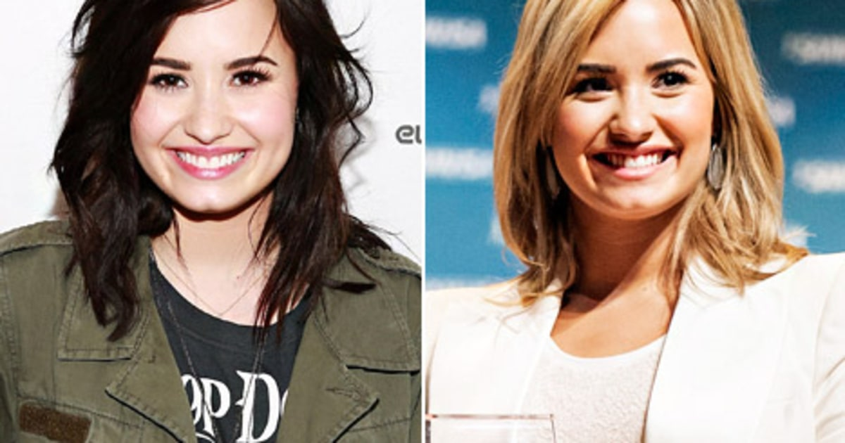 Demi lovato goes back to blonde hair picture us weekly