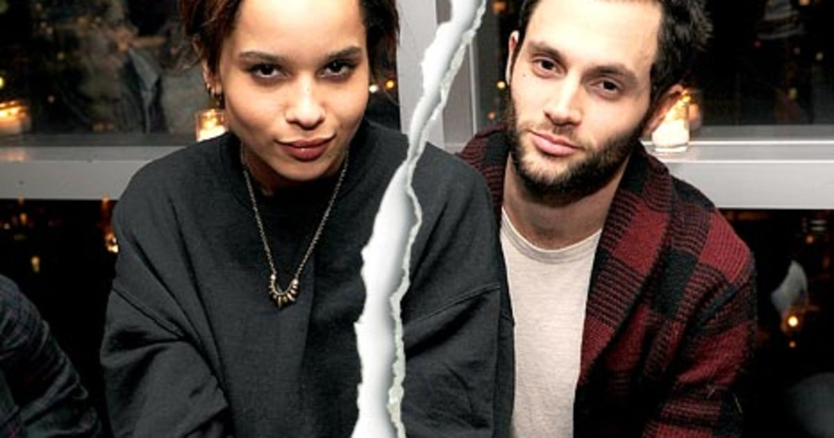Penn Badgley and Zoe Kravitz Split - Us Weekly