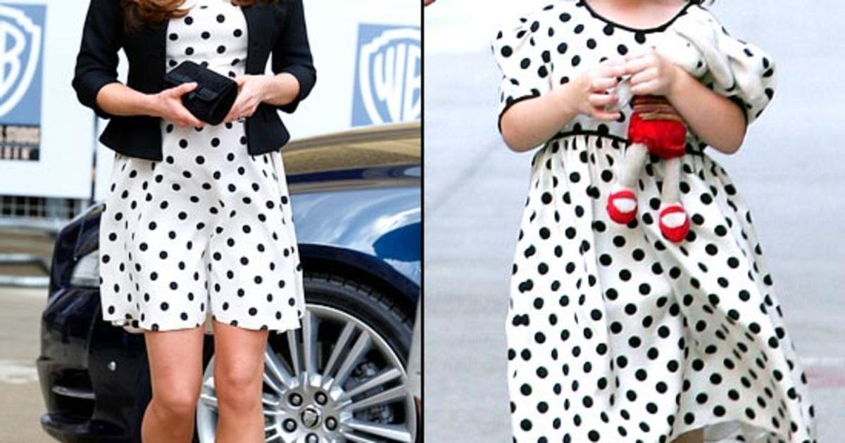 Polka Dot Princesses Kate Middleton Copies Suri Cruise 39 S