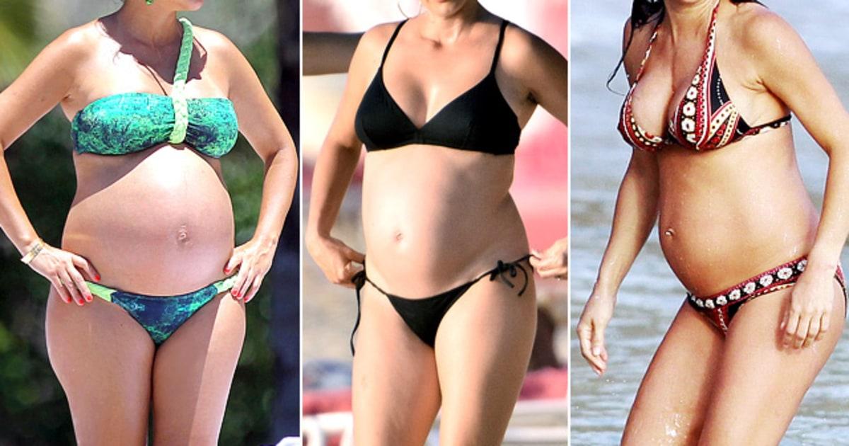 Pregnant Bikini Bodies Celebrities Pregnant Bikini