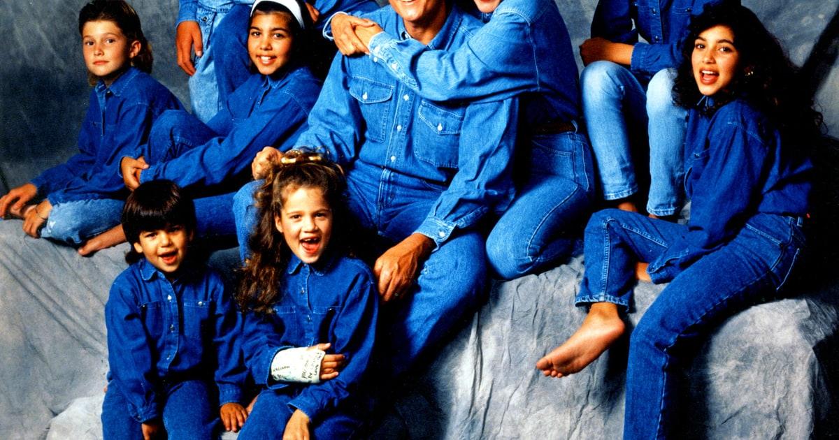 kim khloe kourtney and rob kardashian 90s celebrity