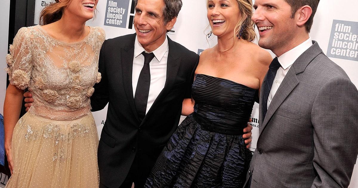 Kristen Wiig, Adam Scott, Ben Stiller, Christine Taylor ... Ben Stiller Christine Taylor Wedding