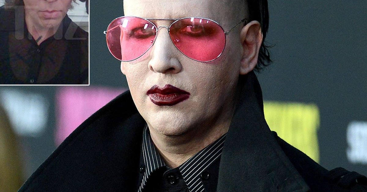 Marilyn Manson Unrecognizable Without Makeup On Eastbound