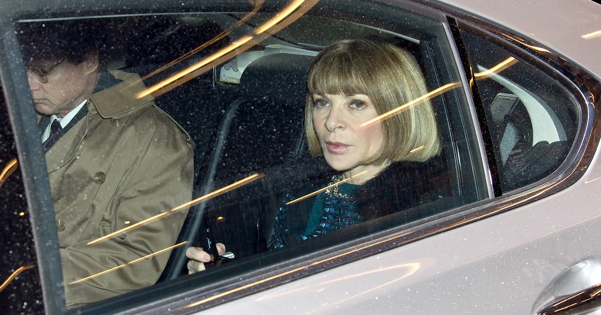 photo of Anna Wintour  - car