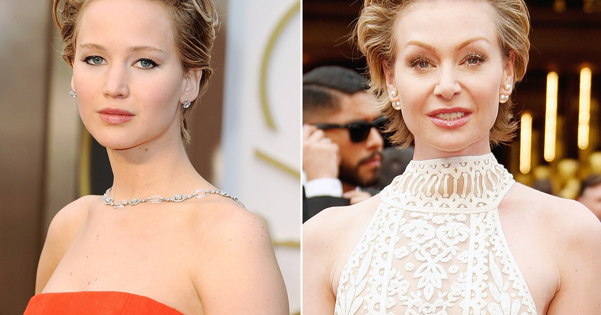 jennifer lawrence and portia de rossi wear same short hair