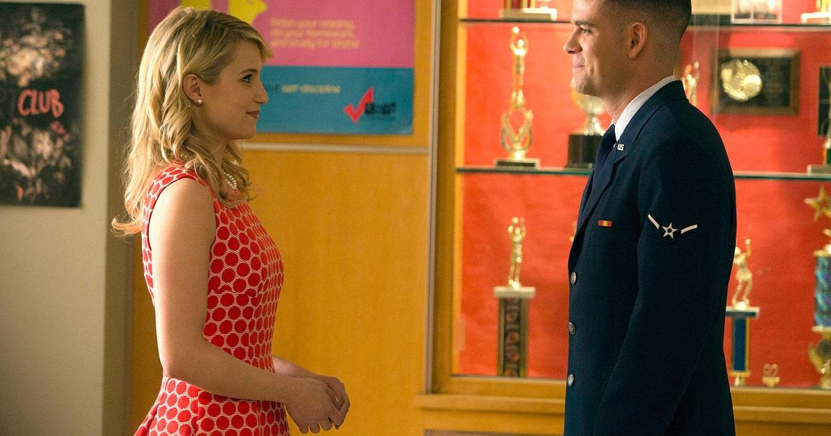 Glee 100th Episode: Quinn and Puck Kiss, Santana and ...