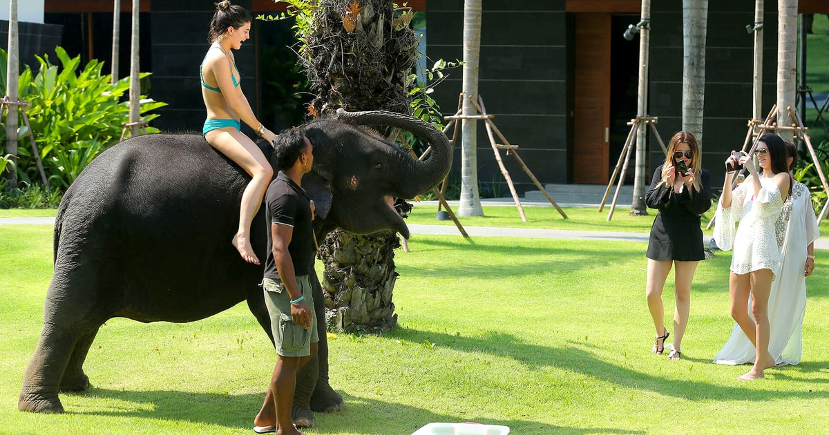 Kylie Jenner Rides Elephant After Hilarious Kim Kardashian