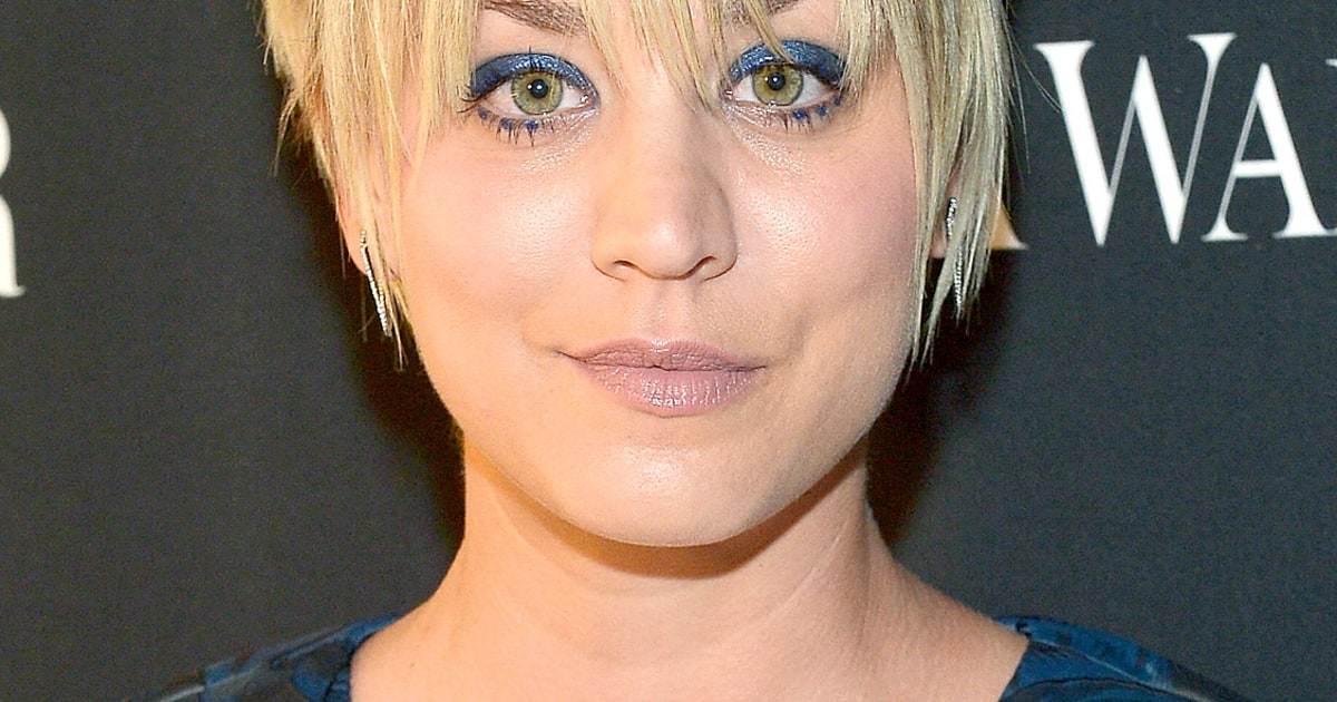 how to style kaley cuoco pixie cut