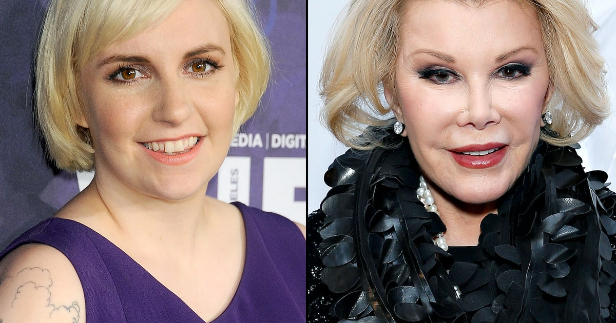 Lena Dunham Honors Joan Rivers With A Plastic Surgery Joke