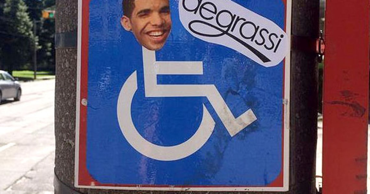 Drake S Face Plastered On Wheelchair Signs In Toronto