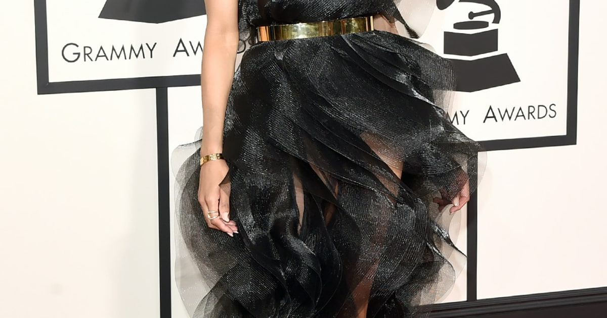 Ciara Grammys 2015 Red Carpet Fashion What The Stars