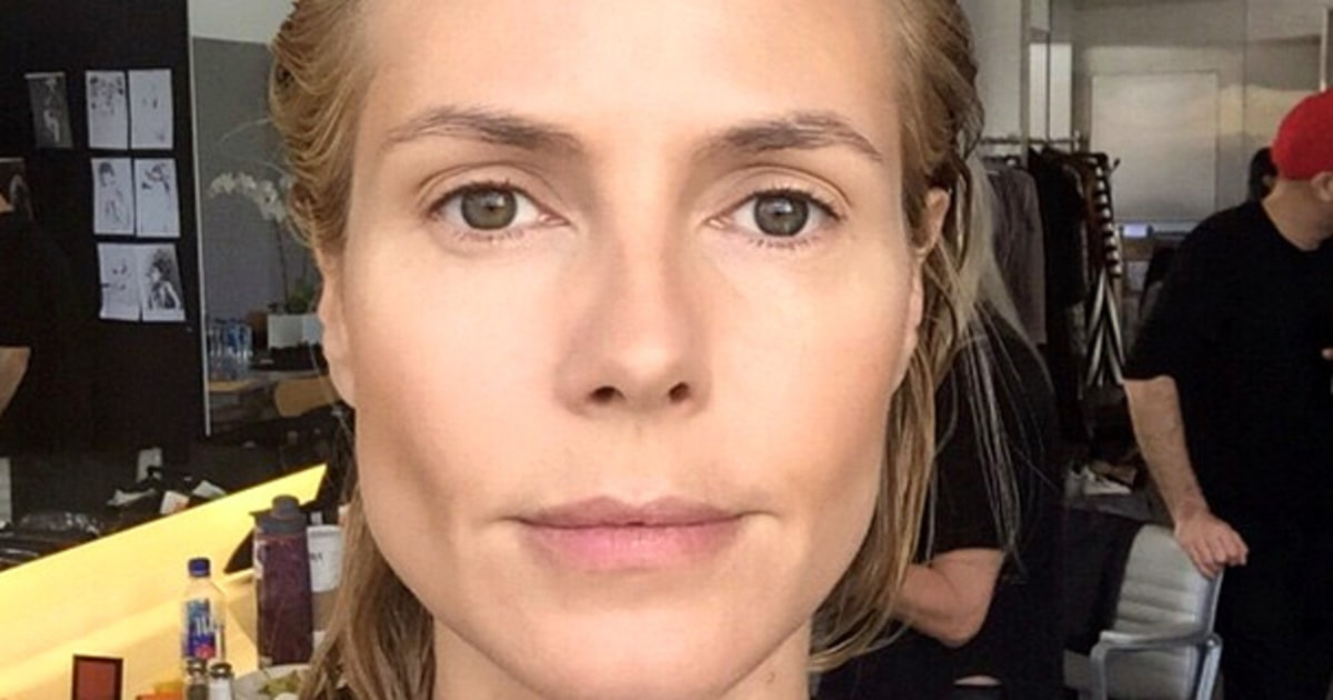 Heidi Klum: Heidi Klum Goes From Without Makeup To Glam