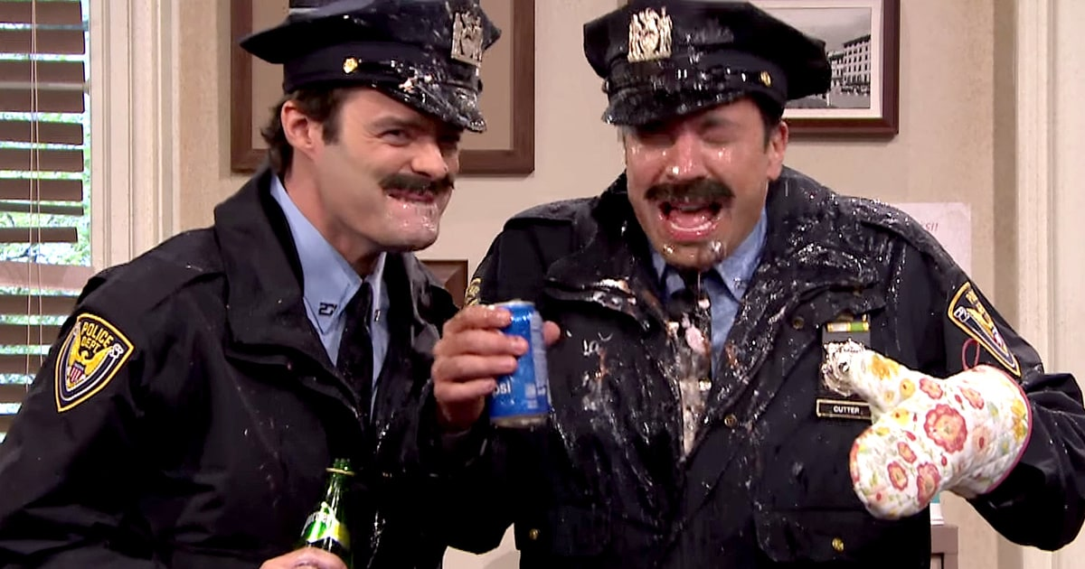 Alec Baldwin and Jimmy Fallon in Spitting Police Sketch ...