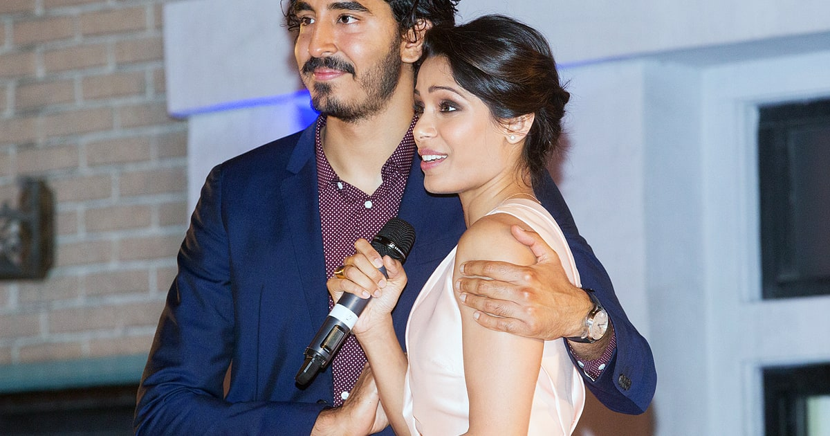 Freida Pinto Gets Close With Ex Dev Patel at Event ...