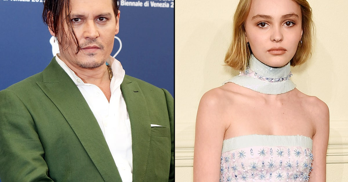 Lily Rose Melody Depp With Johnny Depp