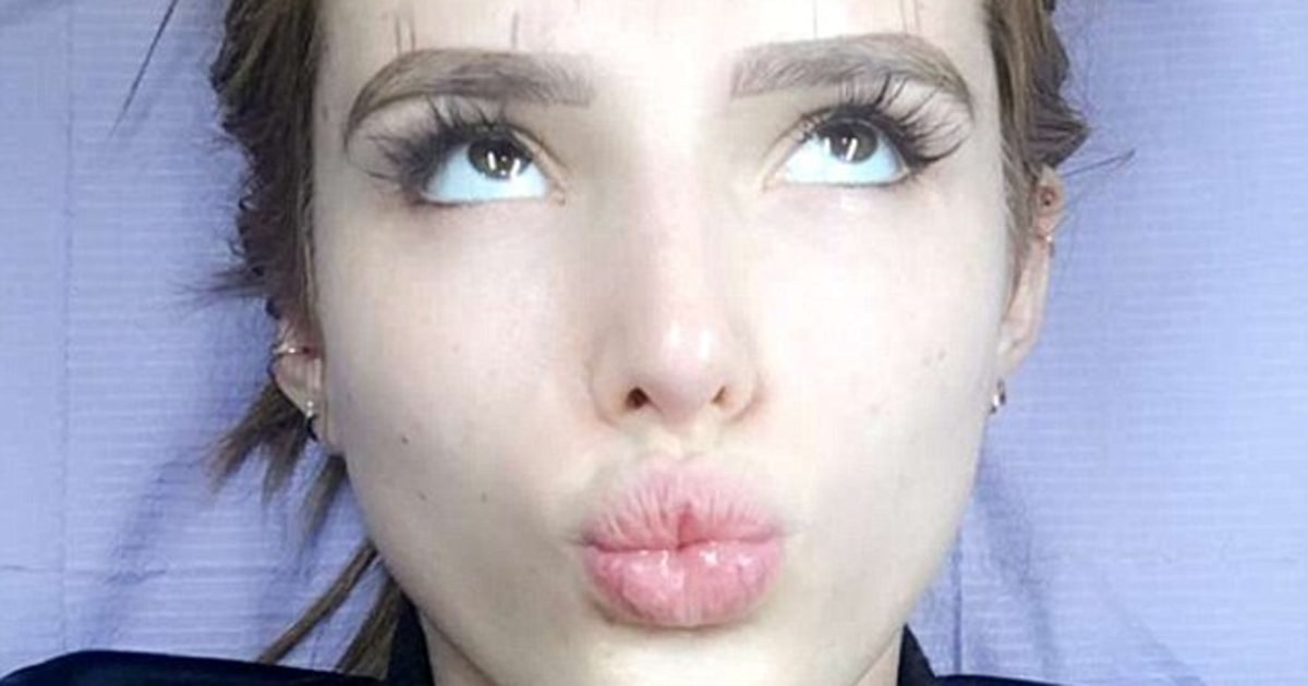 thorne gets eyebrows tattooed pics us weekly