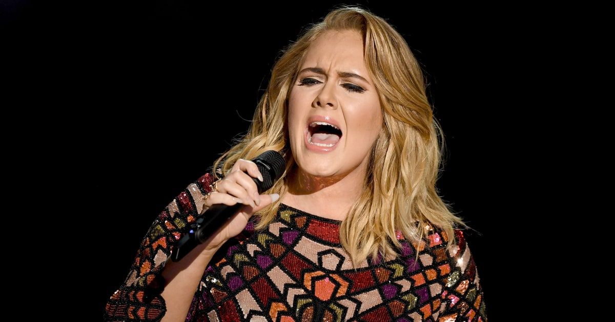 Watch Adele's Steely, Emotional 'Hello' At 2017 Grammys