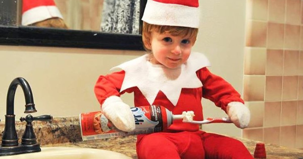 Dad Turns Baby Into Elf On The Shelf Doll Pics Us Weekly