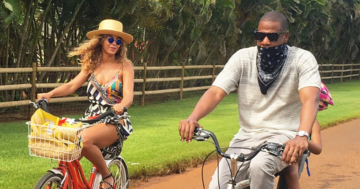 Beyonce, Jay Z and Blue Ivy Take Bike Ride on Hawaiian Vacation - Us Weekly
